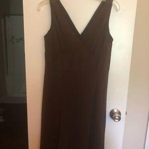 J Crew Brown bridesmaid dress